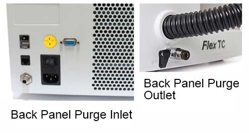 Back Panel Purge Inlet/Outlet